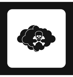 Deadly air icon simple style vector