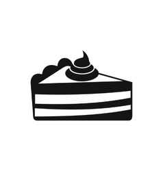 Piece of cake icon simple style vector