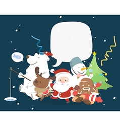 Christmas character with speech bubble vector
