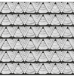 Seamless tribal pattern hand-drawn vector
