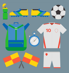 Football soccer icons player trophy competition vector
