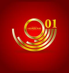 abstract golden branding logo background vector image