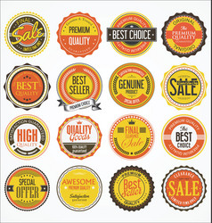 Retro vintage design quality badges collection 2 vector
