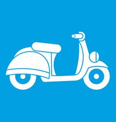 Motorbike icon white vector
