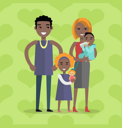 family concept in flat design vector image