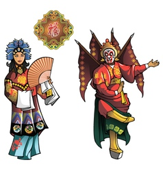 Personages of beijing opera vector