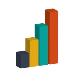 3d bar graph vector image vector image