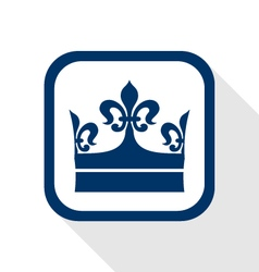 King crown flat icon vector