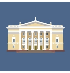 vintage mansion with vector image