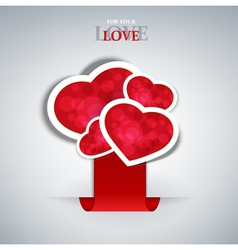 valentines hearts labels vector image