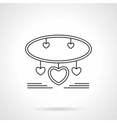 Bracelet with hearts flat line icon vector