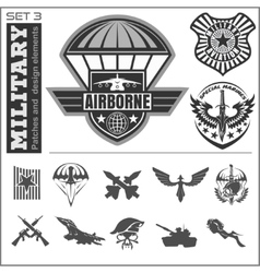 Air force military emblem set design vector
