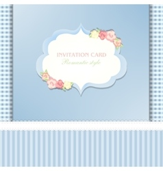Floral save the date or wedding invitation set vector