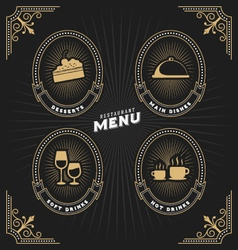 Luxury vintage frame and label for restaurant menu vector