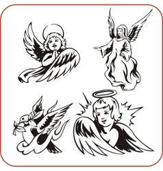 Angels - set vector image vector image