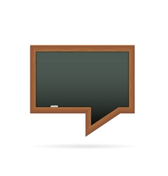 Blackboard in the shape of speech bubble vector image vector image