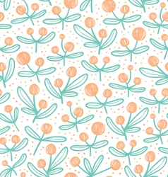 Blossom doodle pattern vector image vector image