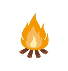 Bonfire Burning On Firewood In The Camp Camping vector image vector image