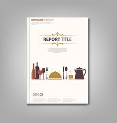 Brochures book or flyer with restaurant pattern vector