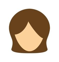 Cartoon woman face vector