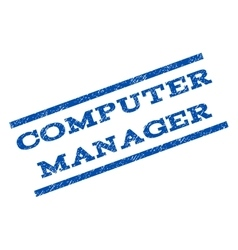 Computer manager watermark stamp vector