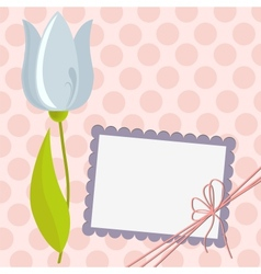 Cute template for Mothers Day postcard vector image vector image