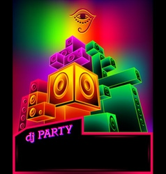 Electronic music party poster vector