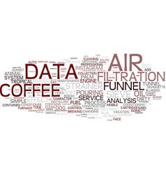 Filter word cloud concept vector