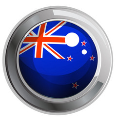Flag of new zealand in round icon vector