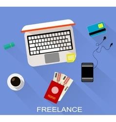 Flat design of freelance vector