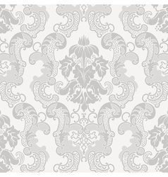 Floral damask pattern for wedding invitation vector image