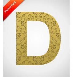 floral font ornament letter vector image