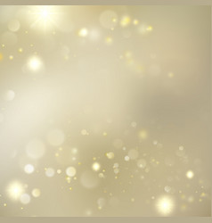 golden blurred bokeh background with stars eps 10 vector image vector image