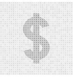 Gray abstract grid dollar symbol vector