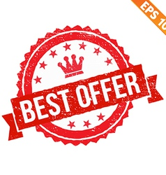 Grunge best offer rubber stamp - - EPS10 vector image