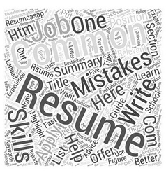 How to write a resume word cloud concept vector