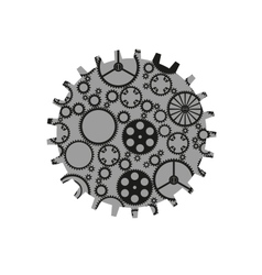 Isolated Gears vector image vector image
