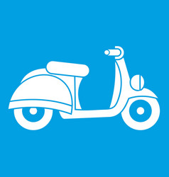 motorbike icon white vector image vector image