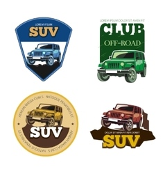 Off-road car emblems labels and logos vector image vector image