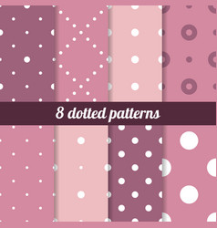 Polka backgrounds collection vector