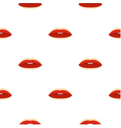 Red lips pattern seamless vector
