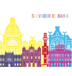 Salvador de bahia v2 skyline pop vector