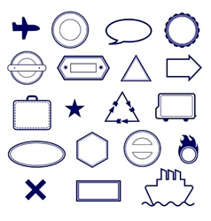 Stamps set vector