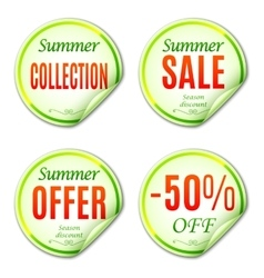 Summer Sale Stickers vector image vector image