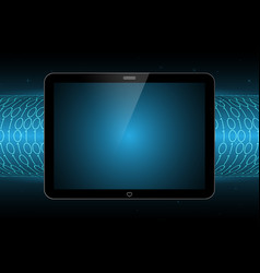 Technology future modern tablet binary tube vector