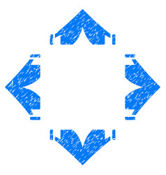 Tent camp grunge icon vector