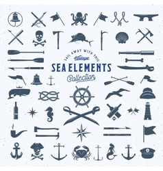 Vintage sea or nautical icon symbol vector