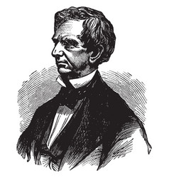 william henry seward vintage vector image vector image