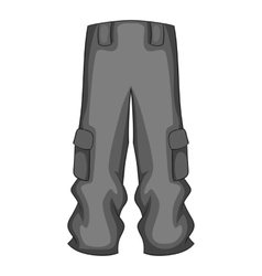 Men sport pants icon gray monochrome style vector