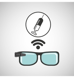 Digital glasses wifi medical vaccination vector